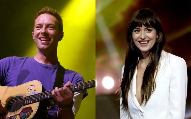 O resto da banda deseja que Chris Martin tenha gostado de Dakota Johnson o suficiente para acabar com o Coldplay