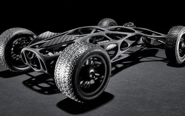 Pita Elastis 16-kaki Menguatkan Mobil RC Cetak 3D yang ramping ini