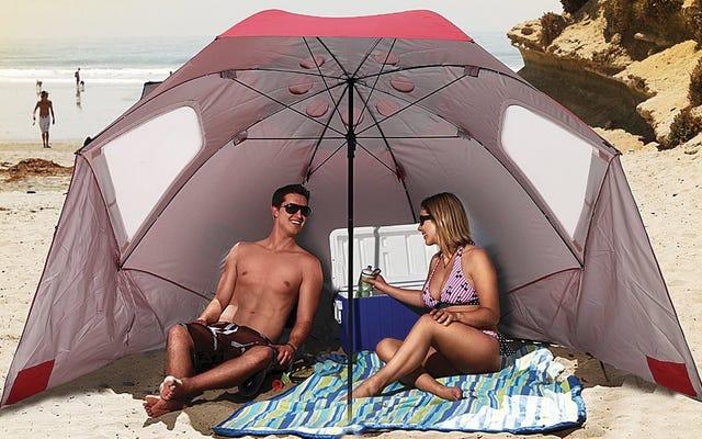 स्पोर्ट-ब्रेला के साथ समुद्र तट पर अपनी खुद की छाया लाओ