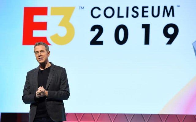 Gospodarz E3, Geoff Keighley, kłania się poza pokazem, krytykuje kierunek wydarzenia