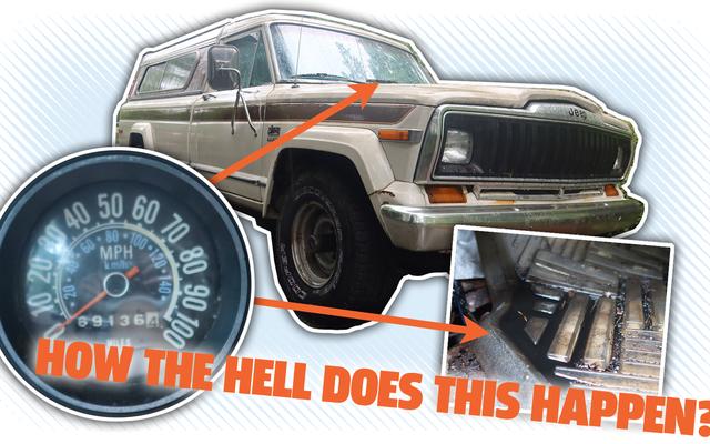 私のトラックには危険なスピードメーターの漏れがあり、はい、あなたはその権利を読んでいます