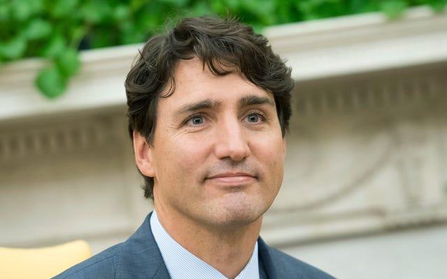 Esta figura de cera de Justin Trudeau es un poco envejecida
