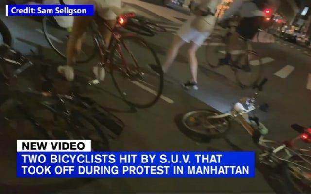 Un joven de 18 años arrestado y acusado en relación con los manifestantes del rally de bicicletas de la ciudad de Nueva York golpeado por una camioneta