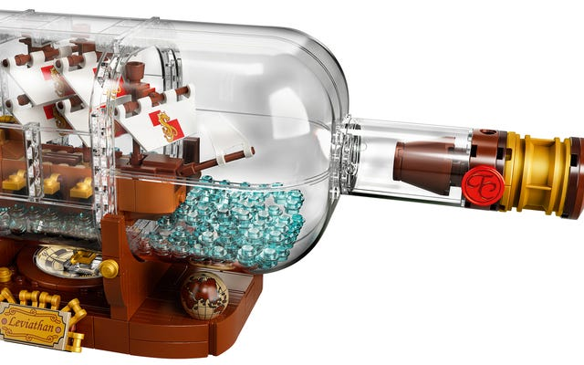 ボトルにレゴ船を作るのはとても簡単なようです
