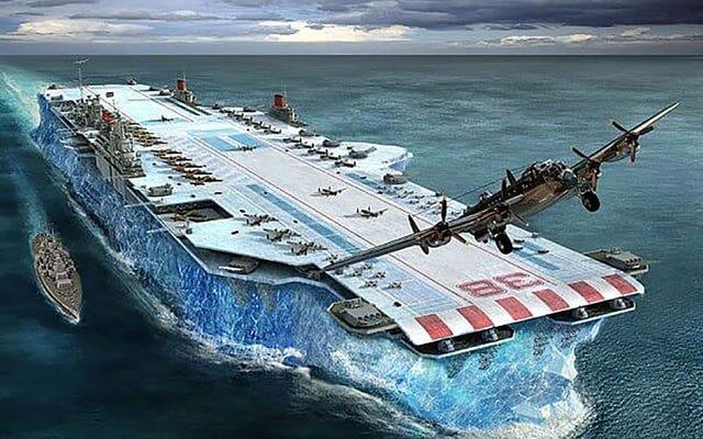 氷でできた巨大な空母を作るための英国政府の秘密プロジェクト、ハバクク書