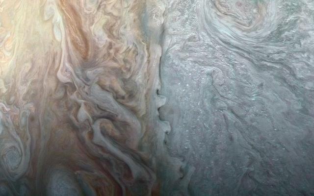 Nueva imagen de cerca de las nubes tormentosas de Júpiter es alucinante