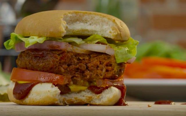 Las hamburguesas sin carne ahora sangrarán