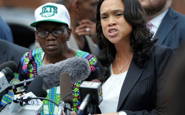 Juez federal bloquea demanda policial contra la fiscal del estado de la ciudad de Baltimore, Marilyn Mosby