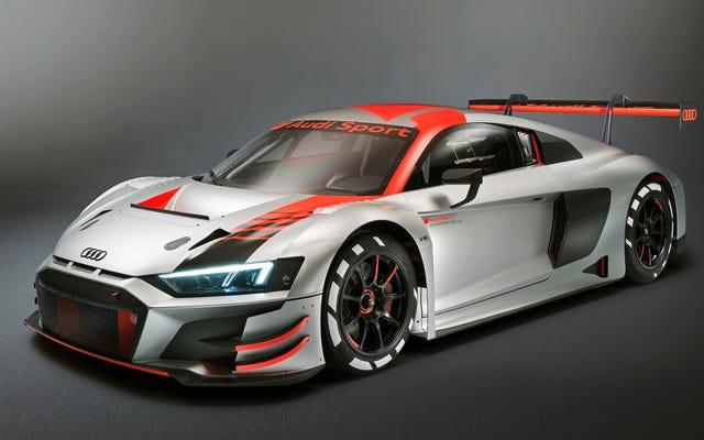 La nouvelle Audi R8 LMS GT3 2019 est toujours stupide, elle a toujours l'air géniale