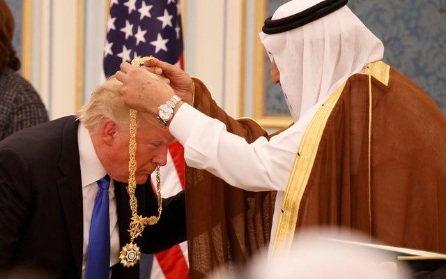 トランプがサウジアラビアに1100億ドルの武器を販売した後、防衛株は史上最高値を記録