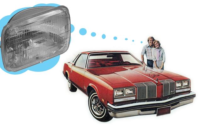 Los escritores de automóviles estaban muy locos por los faros delanteros rectangulares