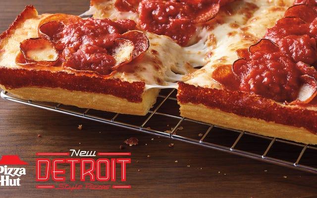 ピザハットがデトロイトスタイルのピザフラカに加わりました