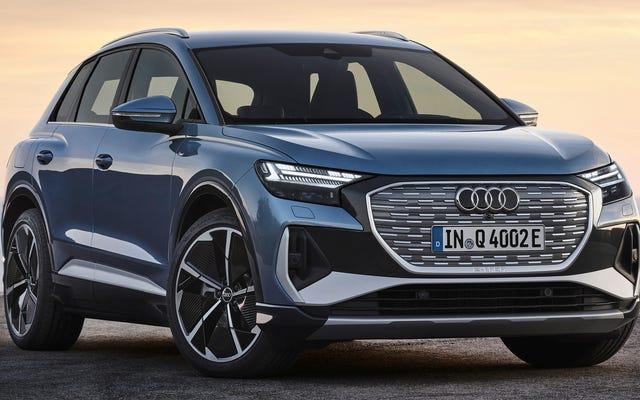 2022 년 4 분기 E-Tron은 볼륨 EV에 대한 Audi의 입찰입니다
