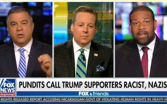 トランプの支持者は、フォックス・アンド・フレンズに出演している間、黒人男性に「綿摘みの心」から外れていると告げる