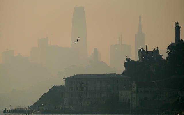 カリフォルニアの山火事からの煙がニューヨーク市まで届いた
