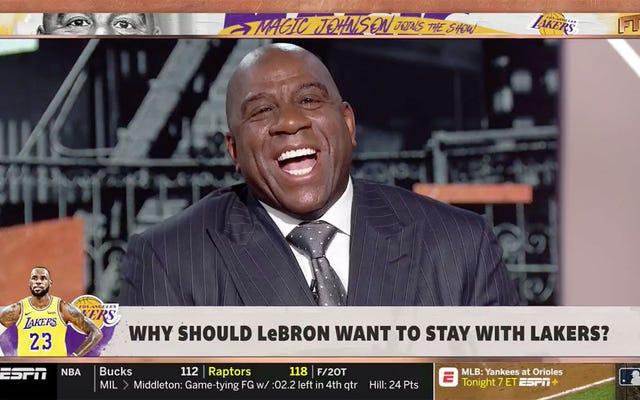 Magic Johnson Mengunjungi Ambil Pertama, Berbicara Banyak Tentang Tentang GM Lakers Rob Pelinka