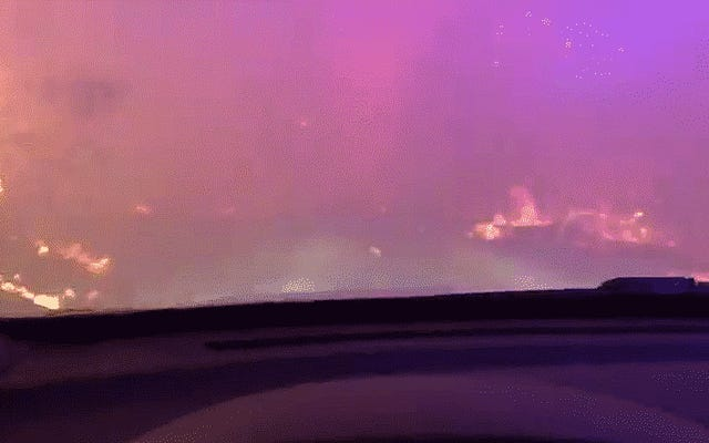 Video Polisi Dari Dalam Kebakaran Hutan California Menunjukkan Kondisi Wajah Layanan Darurat yang Mengerikan