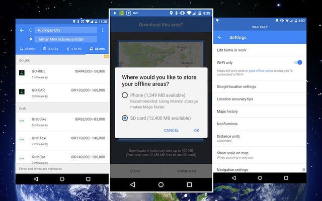 Новые офлайн-функции Google Maps упрощают работу без данных