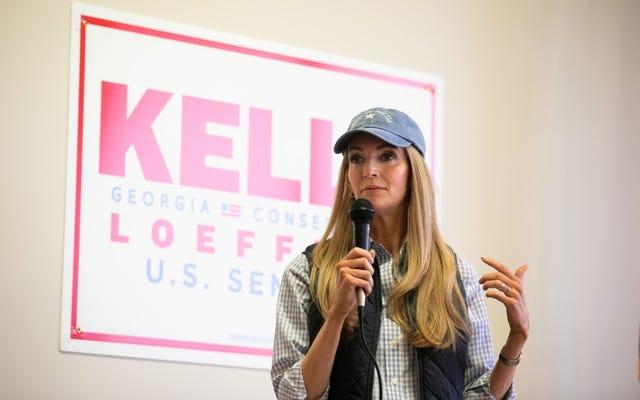 Kampania Kelly Loeffler twierdzi, że `` nie miała pojęcia '', że mężczyzna, z którym pozowała na zdjęciu, jest byłym przywódcą KKK