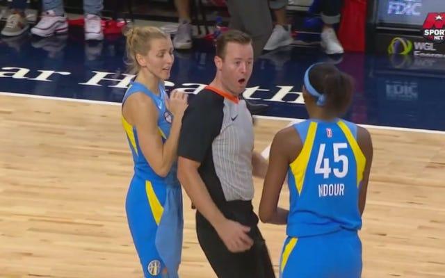 Wasit WNBA Berjalan Ke Tangan Astou Ndour, Memberikan Ejeksi Emphatic