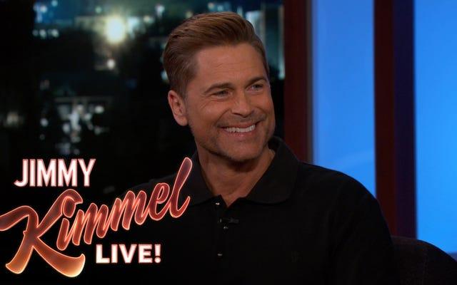 Rob Lowe ทำผลงานได้แย่มากในการโน้มน้าวใจ Jimmy Kimmel ว่าเขาไม่ได้อยู่เบื้องหลังรายการงานนั้น