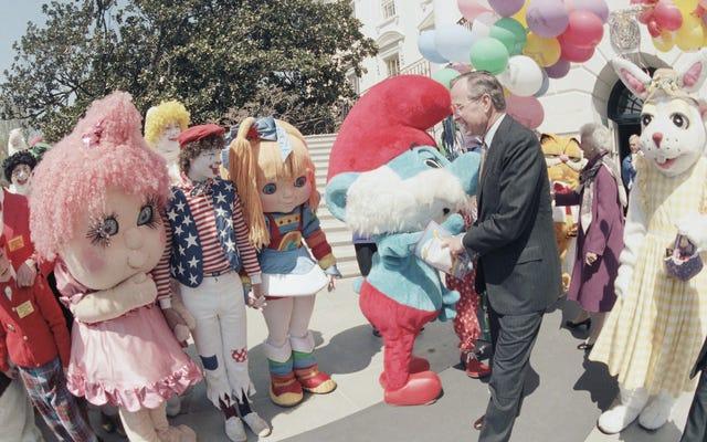 古いホワイトハウスのイースターエッグロールのこれらの写真は私をつまずかせています