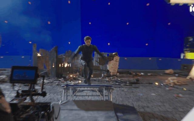 独占:トムホランドがまだスパイダーマンで彼自身の素晴らしいスタントをしているのを見てください:家から遠く離れています