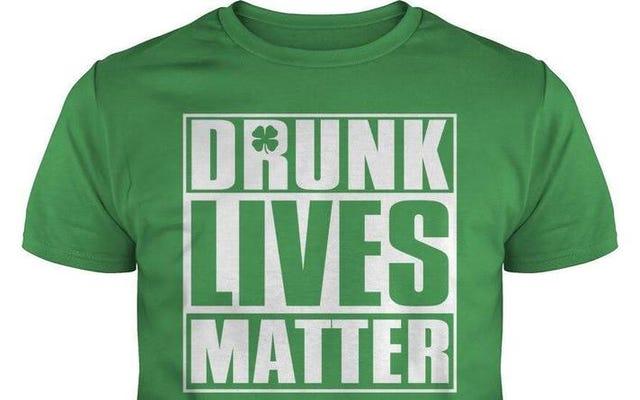 성 패트릭의 날에 입으면 안되는 티셔츠입니다.