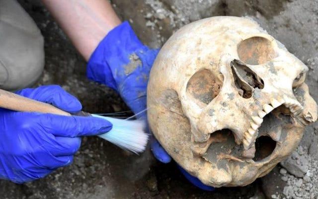 Tengkorak penduduk kuno Pompeii yang ditemukan di bawah batu besar masih utuh. Bagaimana dia bisa mati?
