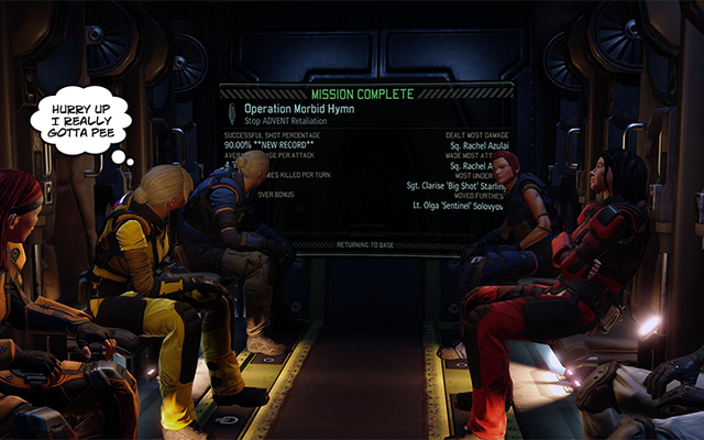 Una soluzione improbabile per i tempi di caricamento di ritorno alla base di XCOM 2