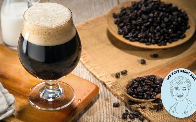Demandez à Kate à propos de la bière: Quelle est la quantité de caféine dans les bières au café?