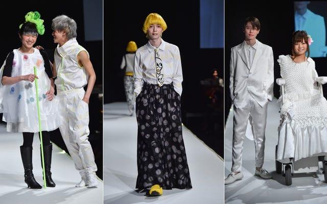 Tenbo представила моделей с ограниченными возможностями на Неделе моды в Токио