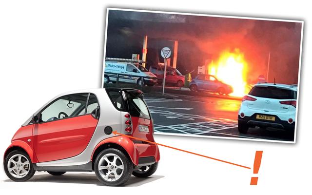 La voiture intelligente explose lorsque le conducteur remplit le mauvais trou avec du gaz mais je blâme la mauvaise conception