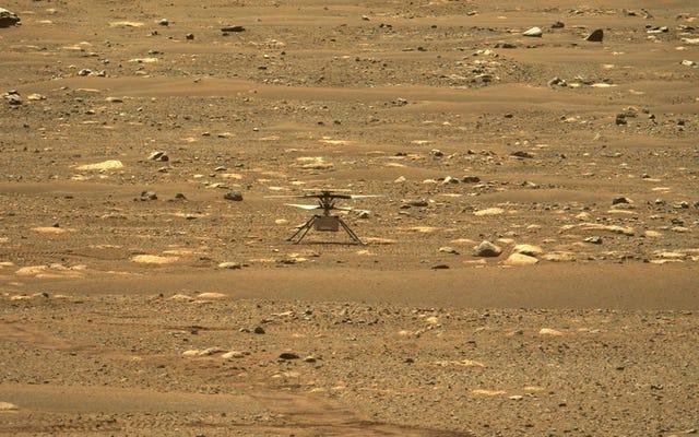 NASAは火星にドローンを飛ばしたばかりで、おそらく近くの火星人を悩ませていました