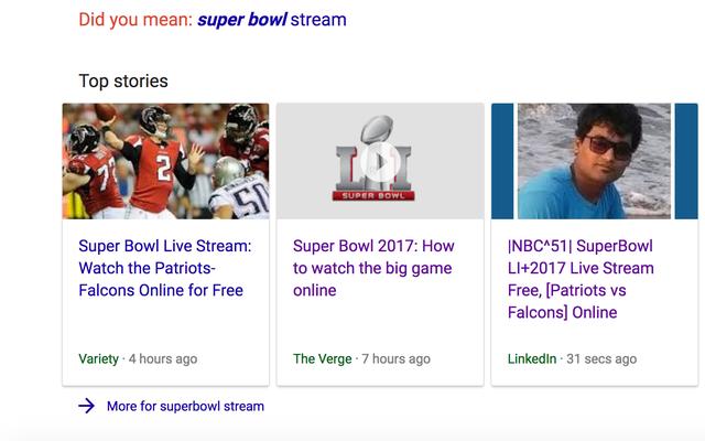 スーパーボウルスパマーがGoogleのトップストーリーモジュールをだまし続ける[更新]
