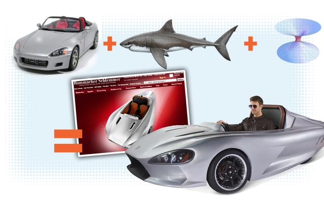 Hammacher Schlemmerは、ホンダS2000のように見えるデストラップと、ワームホールに引き込まれたサメを販売します。