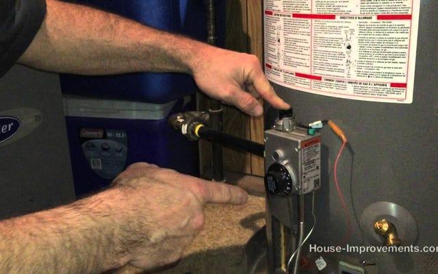 Зажечь контрольную лампу газового водонагревателя за несколько простых шагов