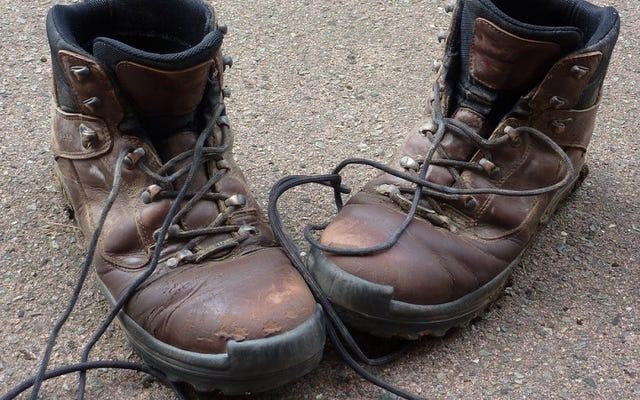 大きなハイキングに行く前に、毎日徐々にブーツを履きます
