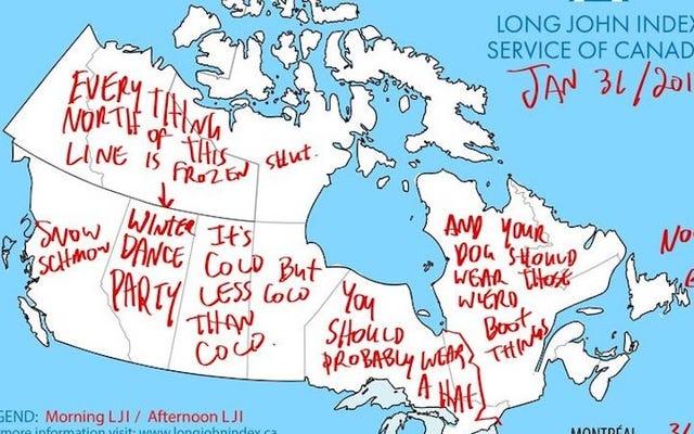 Warga Kanada, Dapatkan Prakiraan Musim Dingin Anda Dari Long John Index