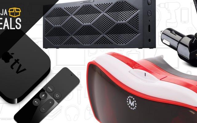 Las mejores ofertas de hoy: Apple TV, realidad virtual, Mini Jambox y más