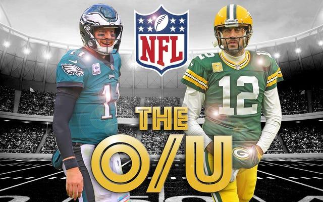 Pari de la semaine Over / Under Deadspin NFL: le cadre de football Lambeau de décembre accueille Wentz