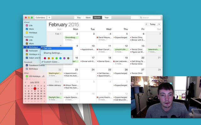 Исправьте неприятные напоминания о дне рождения в OS X двумя щелчками мыши