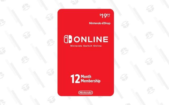 Vous pouvez obtenir une année entière de Nintendo Switch Online pour un petit prix de 15 $