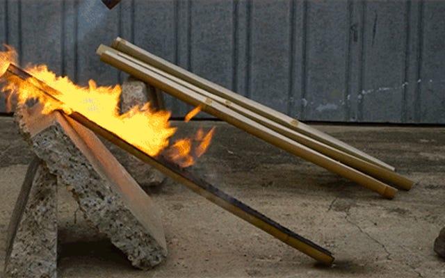 竹から釣り竿を作ることは合法的に印象的です