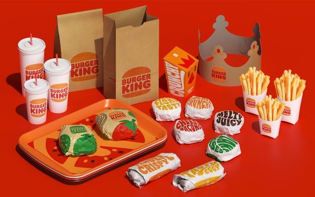 Il rebrand di Burger King sembra uno spuntino