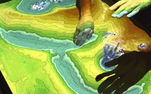 Создайте песочницу дополненной реальности с топографией в реальном времени
