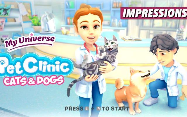 私は奇妙なことにこの子供の獣医ゲームに強いられています