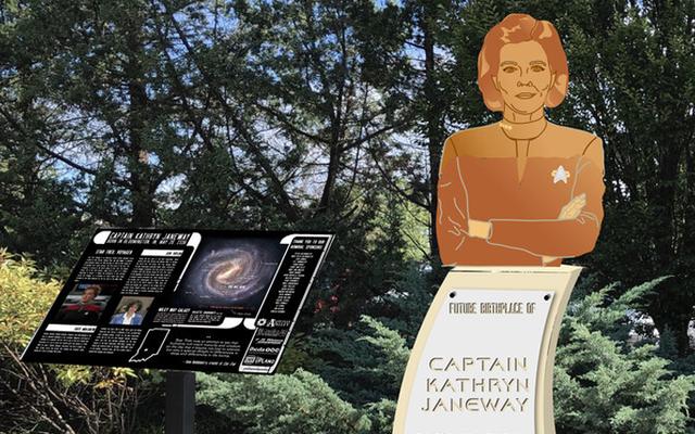 Rodzinne miasto kapitana Janeway może z twoją pomocą zdobyć pomnik Star Trek