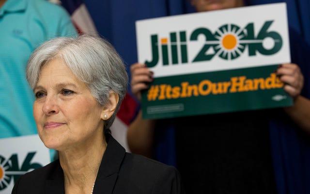 ジルスタインはミシガン州、ウィスコンシン州、ペンシルバニア州で再集計を求めています。しかし、なぜ彼女はヒラリークリントンではなく、起訴を主導しているのでしょうか。