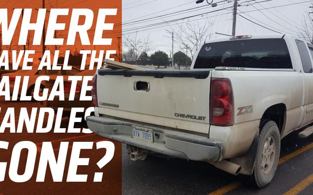 A toneladas de Chevrolet Silverados les faltan los biseles de las manijas del portón trasero y me está volviendo loco